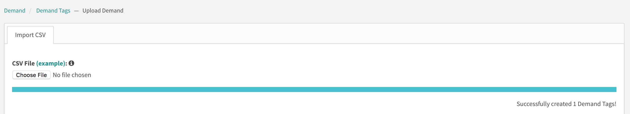 upload demand progress bar