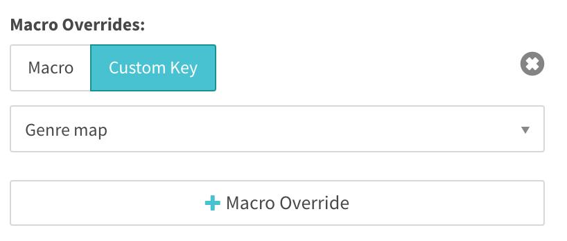 macro overrides using genre map custom key