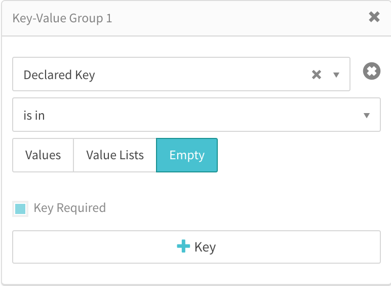 declared key is targeting empty values