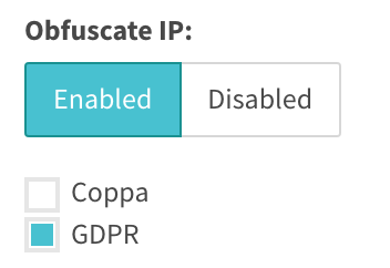 Obfuscating IP can be done for Coppa or GDPR