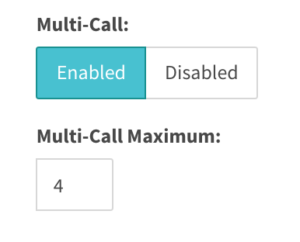 enable multi-call with 4 call maximum